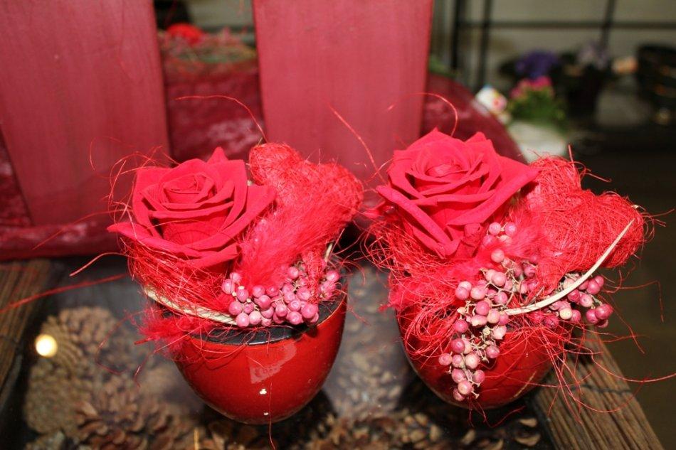 gefriergetrocknete Rosen